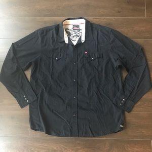 Quicksilver Men Black Long Sleeve Shirt